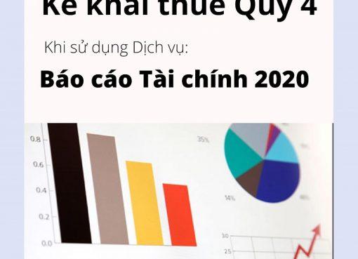 Hỗ trợ khê khai thuế quý IV khi làm báo cáo tài chính 2020
