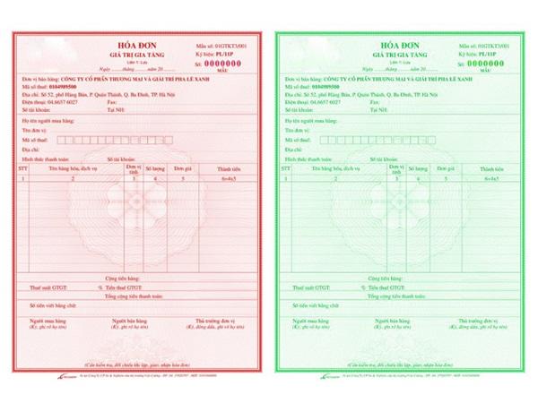 Hóa đơn kê khai thuế