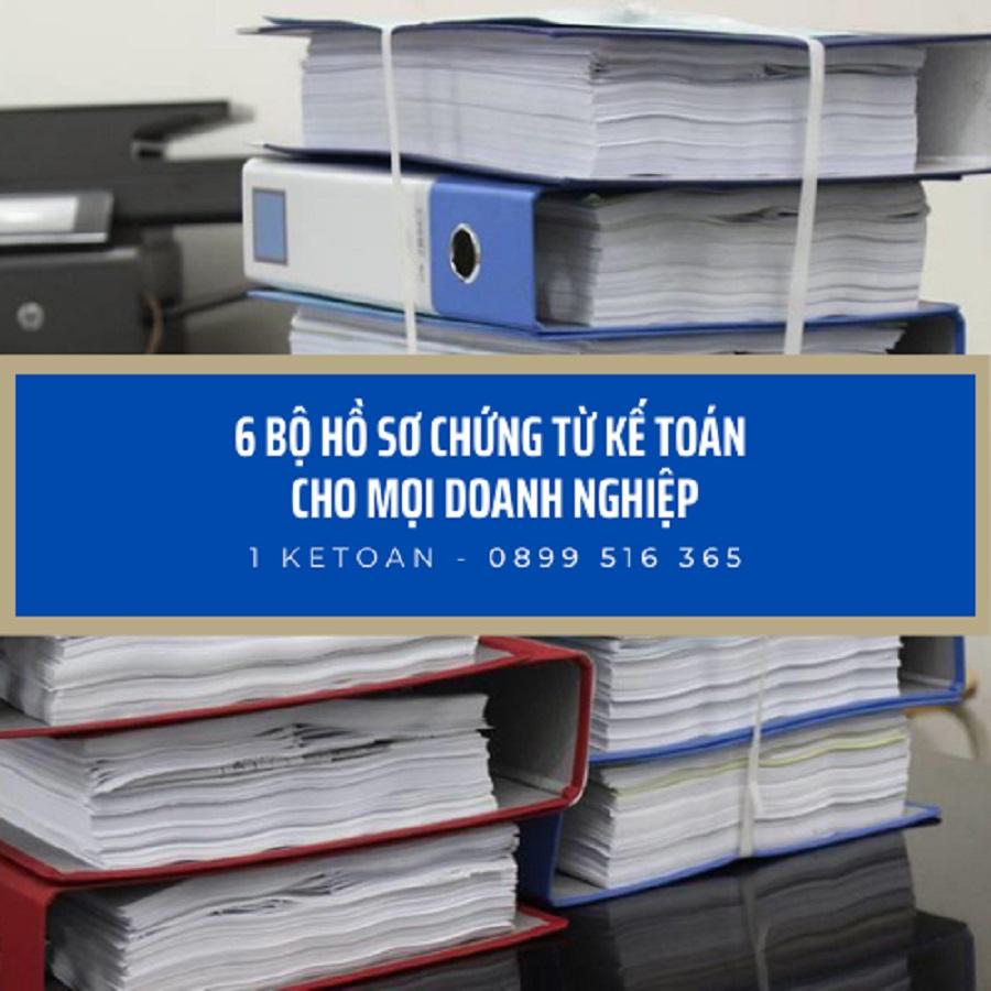 6 bộ hồ sơ chứng từ